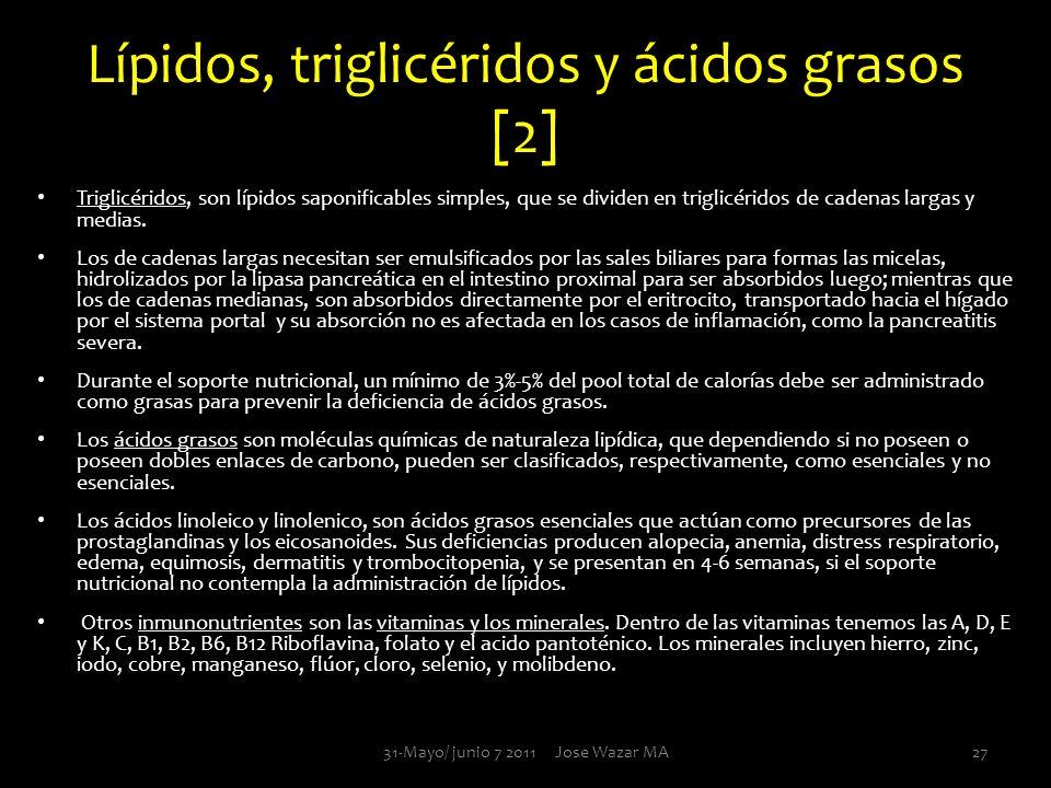 Lípidos, triglicéridos y ácidos grasos [2]